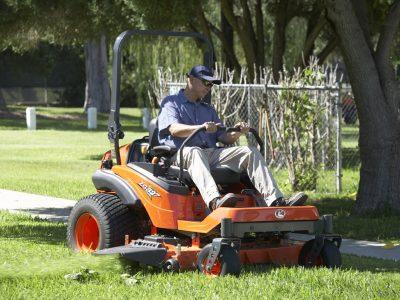 Zero Turn Diesel cutting grass