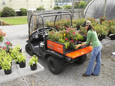 Kubota RTV utility vehicle flower garden
